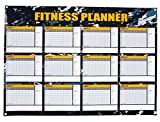 Juvale Dry Erase Weekly Planner - 12 Weeks Fitness Planner for Workout Exercise Log, Weight Loss Program, Bodybuilding, Cross-Fit, and Gym Training Progress Tracking, 24 x 17 Inches