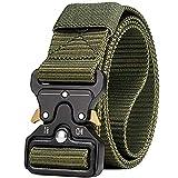 Cinturon Tactico para Hombres, Cinturón de Alto Rendimiento con Cierre Rápido de Hebilla de Metal, Cinturón Táctica Militar de Nylón para Caza, Deportes al Aire Libre