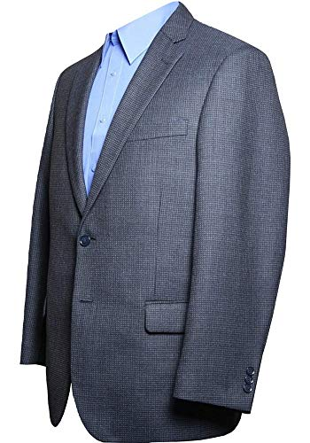 Haggar Men's Big-Tall Performance Stria Gabardine Classic Fit Suit Separate Coat, Graphite, 52 Short