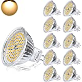 Yafido Bombilla LED GU5.3 MR16 12V 5W Blanco Calido Equivalente a Halogeno 35W Spot Luz 2800K GU 5.3 Foco Ojo de Buey 400 Lumen Ø50 x 48 mm Pack de 10