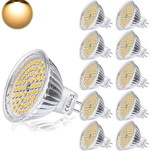Yafido Bombilla LED GU5.3 MR16 12V 5W Blanco Calido Equivalente a Halo