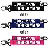 Neopren Schlüsselanhänger Dobermann