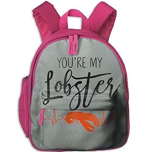 Borsa per bambini You're My Lobster Zaino per studenti durevole carino