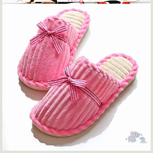 ypyrhh algodón con Memoria Zapatillas de Estar,Lovely Couple Sleeping Shoes, Warm and Comfortable Cotton Slippers-DX Powder_37-38