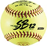 Dudley SB12L Y RF FP ASA/NFHS Leather Cover, Red Stitch, .47/375