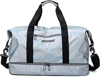 Travel Duffel Bag,Sports Gym Bag,Holdall Handbag (Color : Silver)