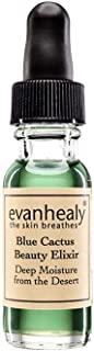 evanhealy Blue Cactus Beauty Elixir, Antioxidant Rich Deep Moisture Certified Organic Prickly Pear Seed Oil, For All Skin Types Especially Sensitive Dry Dull Skin, Cruelty Free and Vegan, 0.5 Ounce
