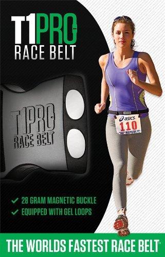 T1 Pro Magnetic Race Belt with Gel Loops, Black
