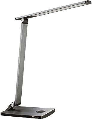 HAMA 00112699 Lampe de Bureau Led Sl 65 cm, 2 Modes D'Éclair/Variat/Minut, Gris, 500 Im