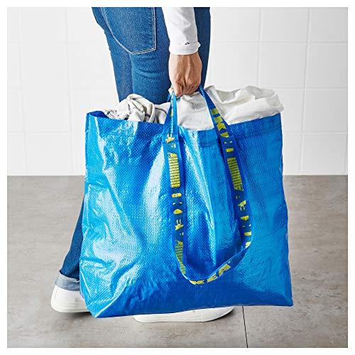 Ikea Frakta Taschen für Einkäufe, Wäsche und Aufbewahrung, groß, Blau, 15 Stück