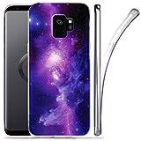 ZUSLAB Cover Galaxy S9 Custodia Modello Nebulosa Artistico, Cover Lucida del Silicone Gel, AntiGraffio Tecnologia IMD, Ultra Sottile, Cover per Samsung Galaxy S9 (2018)