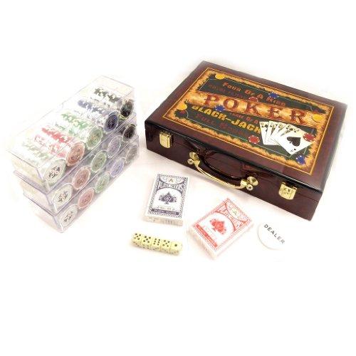 Les Trésors De Lily L2204 - Legno malette 'Poker' marrone (300 gettoni).