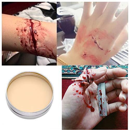 Jourbon Maquillaje De Halloween Dermawax Skin Wax Modelling Wax Effect Cera para Modelar Heridas Carnaval De Halloween
