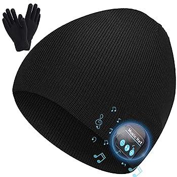 Abbicen Wireless Beanie Hat Music Hat with Gloves for Men Women Gift