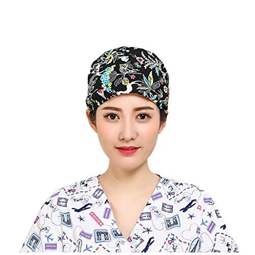 SHE.White Premium OP-Haube - Baumwolle, Verstellbar - OP-Kappe, Bedruckte Kopfhaube, Scrubs, Bandana, Medical Cap, Soft Comfort Passform: angenehmes Tragen für Profis