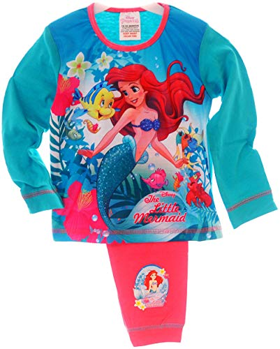 Original von Disney Schlafanzug Ariel Baby Kinder Pyjama Set 80 86 92 98 104 110 Hose Panel (2/3-92/98)