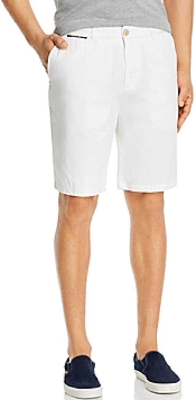 Scotch & Soda. Denim White Classic Fit Chino Shorts, US 31