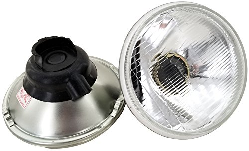 GS Power's Chrome OEM style 7 inch Round Glass Lens Housing H4 HID LED Halogen High Low Beam Headlight Lamp Conversion Replacement (2 pc, Housing Only, Without Lights)