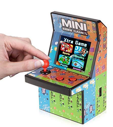 WFGZQ Consola De Juegos Portátil Arcade, Consola De Juegos Retro De 2.8 Pulgadas, 200 Consolas De Juegos Clásicas De 16 bits, Consola De Juegos con Joystick De 2 Piezas, Niños