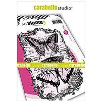 Carabelle Studios クリングスタンプ A6 バタフライ マルチカラー ワンサイズ