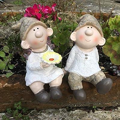 Bill and Beryl Elves standing Daisy, Garden Ornament, Gnome, Garden Fairy, Troll, Imp, Daisy