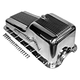 Assault Racing Products A8446 for Small Block Ford Polished Aluminum Oil Pan Retro Finned Front Sump SBF 260 289 302
