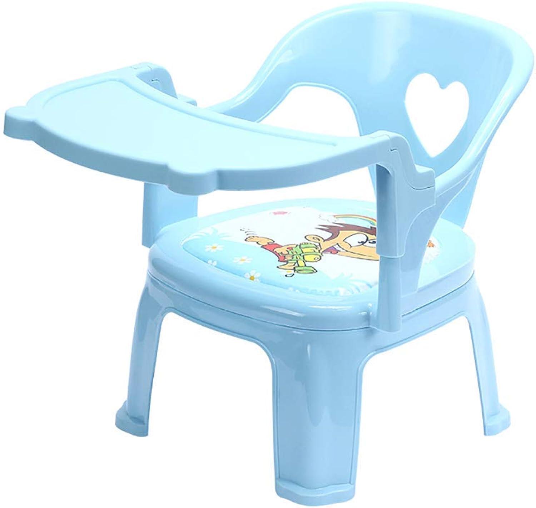 Tavolo da Pranzo, autotoon bambino Health autoe Booster Sedia da Pranzo in plastica bambino Impara a Fare la Sicurezza della Sedia One Sit (Coloreee   Blu)