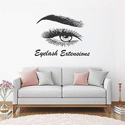 stickers muraux Extension de cils Art Beauty Salon Decor Eye Sourcils Femmes composent Up Eyebrows Decor