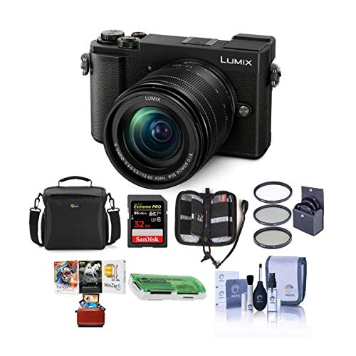 Panasonic Lumix DC-GX9 20.3MP Mirrorless Camera with 12-60mm F3.5-5.6 Lens, Black - Bundle with Camera Bag, 32GB SDHC U3 Card,...