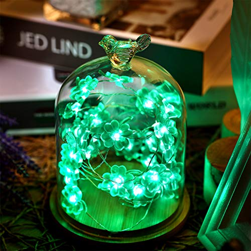Green Lucky Shamrock Clover String Light