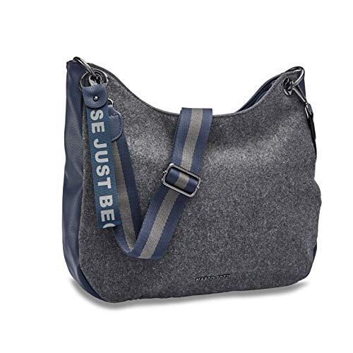 MARCO TOZZI Damen Handtasche 2-2-61037-25, Grey/Navy, 1 EU