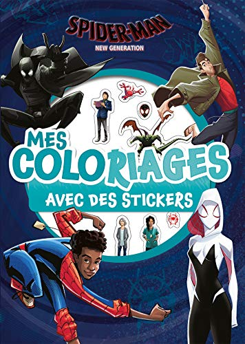 SPIDER-MAN NEW GENERATION - Mes Coloriages avec Stickers - MARVEL: .