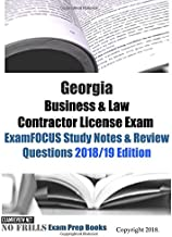 Georgia Business & Law Contractor License Exam ExamFOCUS Study Notes & Review Questions