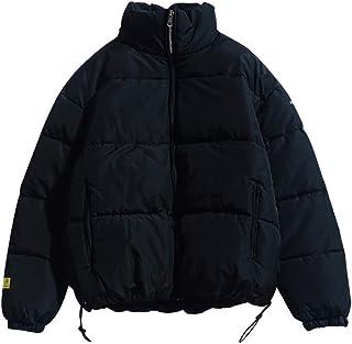 YuFirstSiqht ダウンコート メンズ 防寒 中綿 アウター フード付き 無地 厚手 防寒 カジュアル 冬服
