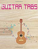 Acoustic Easy Guitar Tabs: Easy Acoustic Guitar Tabs Glossy Cover Design Cream Paper Sheet Size 8.5x11 INCHES ~ Blank - Blank # Tab116 Page Very Fast Prints.