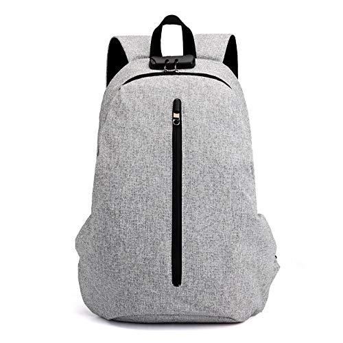 Mens Tassen Schouder Leer Smart Opladen School Tassen Anti Dief Laptop Mannen Rugzak met USB Oplader Mannen Tassen Vrije tijd Rugzak