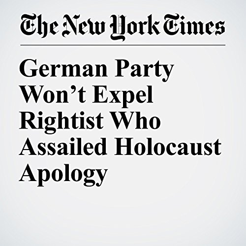 German Party Won't Expel Rightist Who Assailed Holocaust Apology copertina