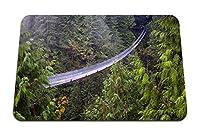 22cmx18cm マウスパッド (ブリッジヒンジ付き針葉樹林の高さの危険の恐れ) パターンカスタムの マウスパッド