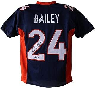 Champ Bailey Autographed/Signed Denver Broncos Blue XL Jersey HOF JSA