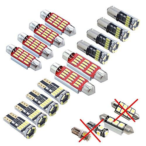 LED SMD 4014 Éclairage d'intérieur Kit Lot de 12 Blanc Canbus Xenon, aucun Message d'erreur