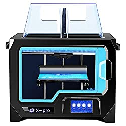 QIDI Technology Dual Extruder Desktop 3D Printer QIDI TECH I, Fully Metal Frame Structure,W/2 Free Filament