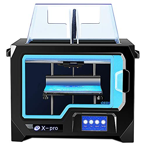 QIDI TECH 3D Printer, X-Pro 3D Printer with WiFi Function, Dual Extruder, High Precision Double Color Printing with ABS,PLA,TPU Filament,9.1x5.9x5.9 Inch
