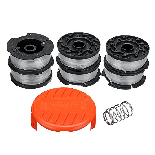 HELEISH 8Pcs 30ft .065 Trimmer Line & Spool Cap para Black & Decker GH400 GH500 GH600 Kit de herramientas