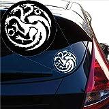 ZYFAOZHOU Haus Targaryen Game of Thrones Aufkleber Aufkleber für Autofenster, Laptop