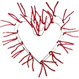 18-28' Tinsel Heart Work Form Red Christmas Makes 28' Wide Finished Wreath