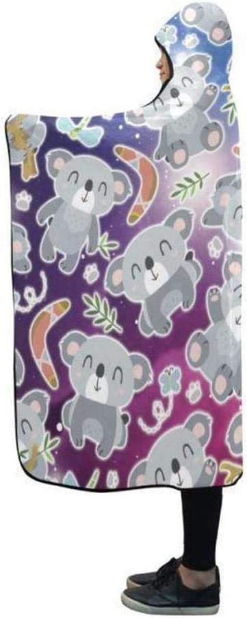 Personalized Koala Galaxy Quantity limited Pattern Hooded Printed favorite Blanket 3D Thro