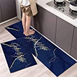 Alfombrillas de Cocina, alfombras Lavables Antideslizantes para...