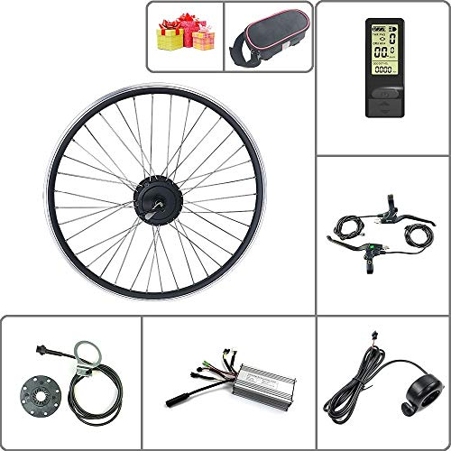 SCHUCK Electric Bike Modification kit is Suitable for 36V/48V 500W 16'/20'/24'/26'/27.5'/28'/29'/700C Rear Motor with KT-LCD4 Display (36V 500W 27.5inch)