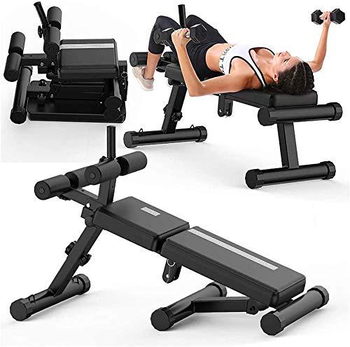 Wghz Banco de Ejercicios múltiples Sentadillas Plegables Extensión de Espalda Abdominal Ejercicio de Entrenamiento de Fuerza Fitness con ángulo de Altura Ajustable Adecuado para Todo el Cuerpo Ca