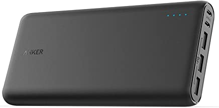 Anker PowerCore 26800 Portable Charger, 26800mAh External Battery with Dual Input Port and Double-Speed Recharging, 3 USB Ports for New Airpods, iPhone, iPad, Samsung Galaxy, Android & More